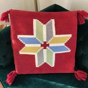 IKEA Pair Wool Tribal Boho Square Pillow Covers
